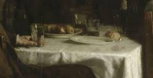 Courbet. L'après-dînée à Ornans, détail