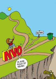 Un dessin du regretté Charb, assassiné le 12/01/2015, offert à la NVO en lutte