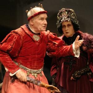 """Michel Bouquet et Juliette Carré, dans """"Le roi se meurt"""" de Ionesco"""