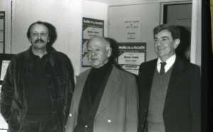 Marcel Cuvelier, Eugène Ionesco, Nicolas Bataille. Photo Huchette